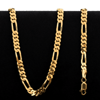 38.5 gram 22 kt Figarucci Style Gold Necklace