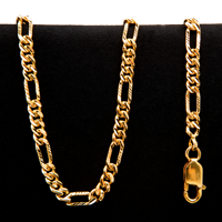 52.0 gram 22 kt Figarucci Style Gold Necklace
