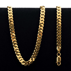 61.0 gram 22 kt Curb Style Gold Necklace