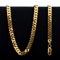 37.0 gram 22 kt Curb Style Gold Necklace