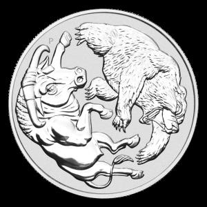 1 oz 2020 Australian Bull and Bear Silver Coin