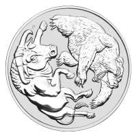 1 oz 2020 Australian Bull and Bear Silver Coin