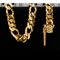 53.5 gram 22 kt Figarucci Style Gold Bracelet