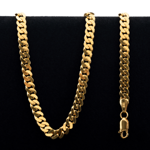 87.5 gram 22 kt Curb Style Gold Necklace