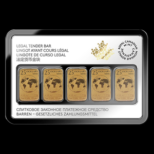 Legal Tender Bar – 5, 1/10 Ounce Gold Bullion Bars (LIMITED STOCK)