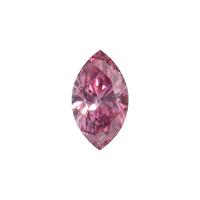 0,18 carat - Diamant fantaisie de couleur rose-pourpre vif