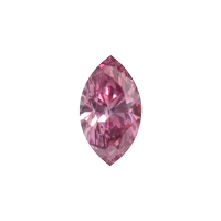 0.18 Karaat - Modieuze, sprankelende Purper-roze Diamant
