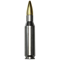 24Kt Gold Tipped .308 Caliber Two Ounce Silver Bullet
